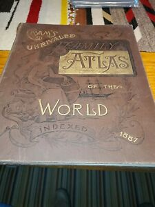 1887 Cram's Family Atlas of the World