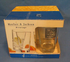 New listing 2003 Mayfair & Jackson Set Of 4 Glasses Metal Plate Grand Tunica Ms Never Used