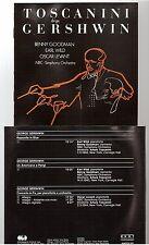 TOSCANINI dirige gershwin CD ALBUM nbc simph orch HUNTCD 534 benny goodman