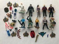 Star Trek Action Figures Lot Vintage Par Pic Playmates Weapons Accessories Spock