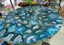 """32"""" Round Marble Agate Stone Dining Center Table Top Art Living Room Decor E1086"""