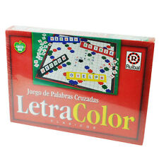 Letra Color Juego de Palabras Cruzadas Crossword Board Game Spanish Espanol