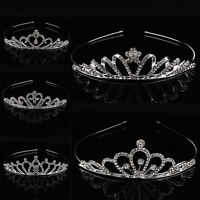 Bridal Princess Prom Crown Headband Rhinestone Crystal Tiara Hair Girl Hoop Gift