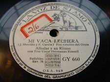 ALBALAT yo no me quiero casar / mi vaca - 78 rpm la voz de su amo - white label