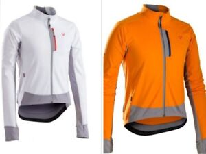 The Bontrager RXL 180 Softshell Jacket Orange White Thermal Profila Full Zipp