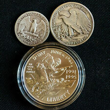 More details for 1940 - 1991d usa silver coin lot, quarter, half and westminster one dollar