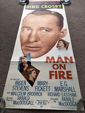 Man On Fire (1957) Original US Insert Cinema Poster