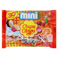 CHUPA CHUPS Mini Lollipops 30 Count Ice Cream And Fruit Flavors Candy Suckers