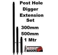 Post Hole Digger Extensions Set. Earth Auger Posthole Drill 300, 500 & 1 metre
