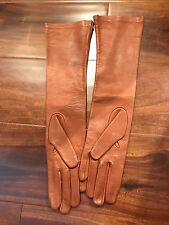 Mark and Graham Italian Leather Opera Bright-Toned Women's Gloves size 7  NWOT
