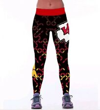 Kansas City Chiefs Womens Leggings L/XL Football Athletic Yoga Stretchy KC