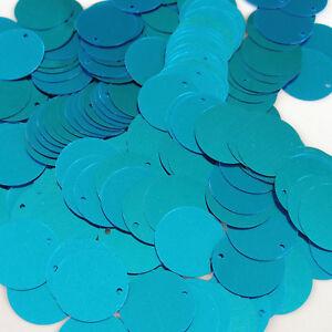 Sequins Flat Paillettes 20mm Various Colors Blue Red Gold, etc Loose ~100 pieces