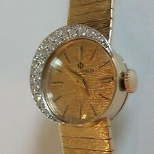 VINTAGE BAUME & MERCIER LADIES 14K SOLID GOLD BRACELET WATCH, 26 DIAMONDS
