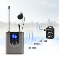 """UHF Wireless System with Dual Headset/Lavalier Microphone Mic 1/4"""" plug for PA"""
