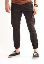 Kluminati Zip Mens Cargo Pants Black Cotton