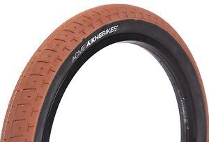 """KHE BMX Bike Tyre ACME, 20"""" x 2.40"""", Brown-Black Sidewall"""