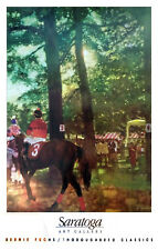 Saratoga Race Track - Rare Vintage Poster (1991) by Bernie Fuchs - The Paddock