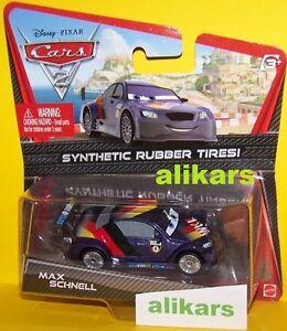 O - MAX SCHNELL - No 4 WGP Disney Cars 2 modellino coche racer auto rubber tires
