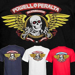 POWELL PERALTA Winged Ripper Skateboard Tee Shirt - BONES BRIGADE CLASSIC