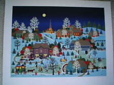 "JANE WOOSTER SCOTT Original Serigraph "" Winter's Eve "" - Signed & Numbered - COA"