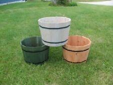 "Whiskey Barrel Planters-Cedar Planters-Rustic-14"" x 24"" Wood Planter"