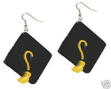 Big Funky MORTARBOARD GRADUATION EARRINGS Graduate Teacher Novelty Charm Jewelry