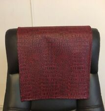 Recliner Head Rest Cover Vinyl Gator Red Black 14x30 Sofa Love seat Chaise