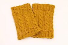 Hand Knitted, handmade leg warmers, boot cuffs/toppers
