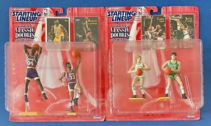 (2) 1997 Starting Lineup Classic Doubles Larry Bird & McHale and O'Neal & Kareem