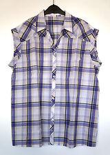Karierte Damenblusen, - tops & -shirts mit klassischem Kragen aus Baumwolle