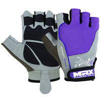 Women Weight Lifting Gloves Gym Fitness Training MRX Ladies Leather Glove Purple