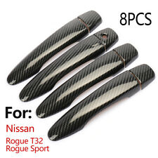 For Nissan Rogue T32 Rogue Sport Carbon Fiber Style Side Door Handle Cover Trim