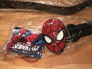 Marvel Boys Comics Avengers Spiderman Buckle Black Belt.