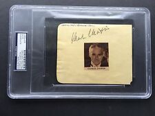 Charlie Chaplin autographed album page PSA/DNA signed The Tramp