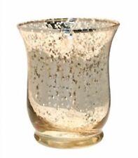 Hurricane Vase floristry Glass champagne gold fleck 25cm x14cm table centre