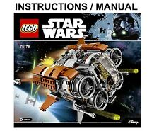 LEGO Star Wars Jakku Quad Jumper 75178  INSTRUCTIONS ONLY