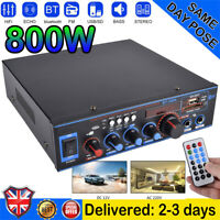 800W Digital Audio Amplifier Stereo integrated Amplifier HiFi Bluetooth Car Home