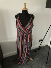 Brand New Maxi Dress Size 16 - Striped Print