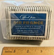 Vintage 1960s Air France Airline Passenger pocket wipes Rare NOS Bag of 20