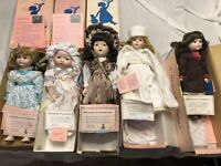 LOT OF 5 MYD PORCELAIN DOLLS W/ COAs & IN THEIR ORIGINAL BOXES!!