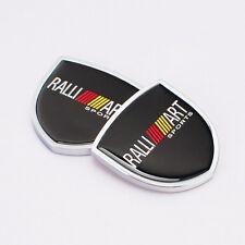 Car emblem Side Window Fender Badge Decal Sticker ralliart for Mitsubishi lancer