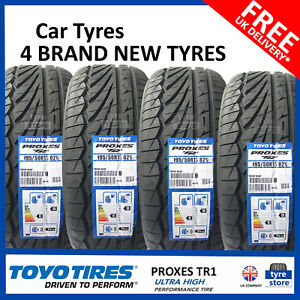 4X New 195 50 15 TOYO PROXES TR-1 82V 1955015 195/50R15 *B WET GRIP* (4 TYRES)