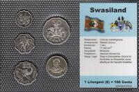 Swaziland Stgl./unzirkuliert Kursmünzen Stgl./unzirkuliert 1996-1998 5 Cents bis