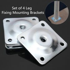 Set of 4 Leg Fixing Mounting Plates Brackets Sofa Level Plate Feet Legs New