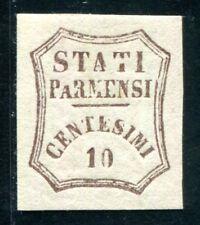 ITALIEN ALT PARMA 1859 13 * mit KLISCHEEFEHLER (Z3391
