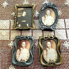"Set Of 4 Weston Gallery Pewter & Brass Frames app 3"" X 4"""