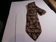 ROBERT TALBOTT Studio Silk Mens Neck Tie brown w floral print vintage designer