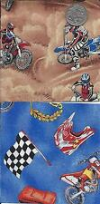 """Charm Squares 24  @ 5"""" 100% cotton, Off road Bikes Quilting Fabric"""