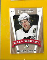 32376 SIDNEY CROSBY 2006/07 O-PEE-CHEE PITTSBURGH PENGUINS HALL WORTHY CARD # 🏒