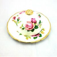 Royal Albert Anniversary Rose Round Covered Lidded Butter Dish England BoneChina